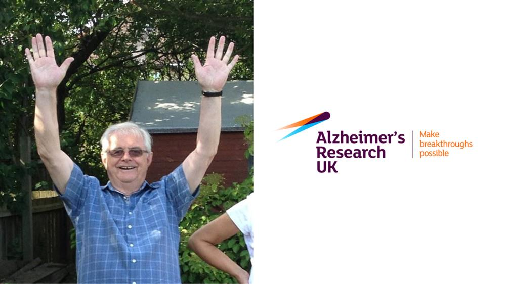 JustGiving page banner to help raise money for Alzheimer's Research UK