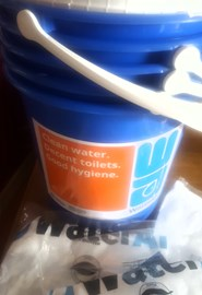 The collecting buckets have arrived! One week to go!