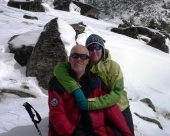 Paul & Lesley at the Gosainkund Pass