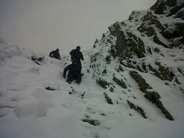 Training on Scafell - highest peak in England Jan 2014