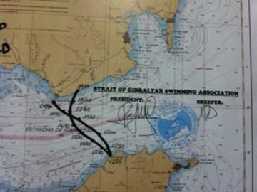 Map of 2 Way Swim Route