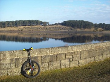 At Hurstwood Res. with my Mountain Uni