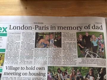 Surrey Newspaper - Bike 4 Mike Article - August 2015