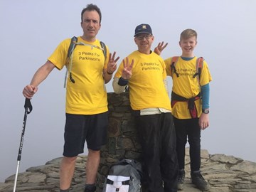 Snowdon done! Downhill all the way now!
