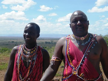 John & Peter from the Maasai
