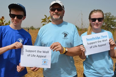 Supporting the Well of Life Appeal at Sintet farm in The Gambia