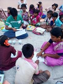 Sesión de formación, centro de refuerzo de Kannigapuram -Nov'17
