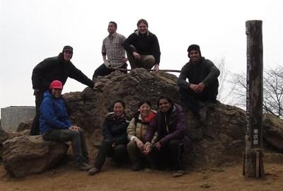 Team on training hike.. :)