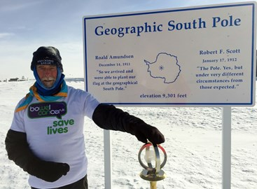 at the geographic South Pole