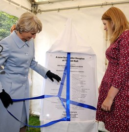 Official opening of the new Thorpe Hall Hospice by the Duchess of Gloucester on Tuesday 8th September 2015