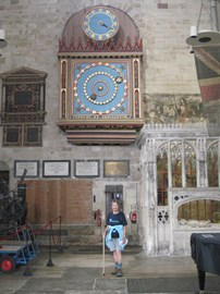 Exeter cathedral astronomical clock July 2015