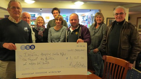 The Limeburners cheque presentation a fantastic £1,125!