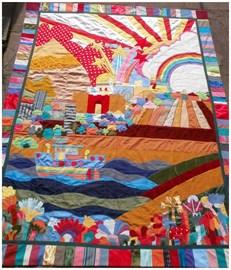Unique quilt by Jennifer Creek