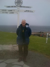 John O'Groats - cold and wet!!