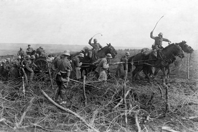 German Artillery in Operation Michael - Mary Evans
