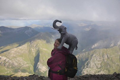Paula the pachyderm on Ben Nevis