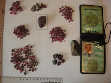 Illegally confiscated ruby in Greenland