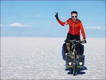 across 12,000sqKm of salt from Uyuni..