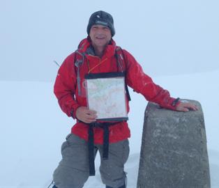 Summit of Ben Nevis 7.45 pm 29/5/15 in the snow!