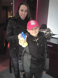 Ben's Day at Anfield with Beth Tweddle