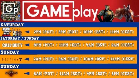 Stream Timetable