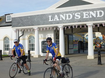 David and Kevin's first cycling fundraiser. LeJog 2012