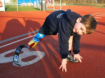 Rio takes his marks on the track