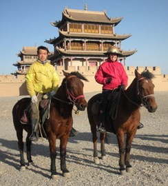 Peng and I at Jiayuguan Fort