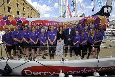 Team Derry~Londonderry~Doire with Mayor of Derry Elisha McCallion