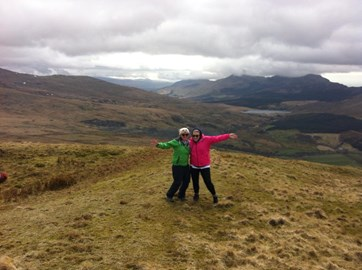 Sophie and Julia on their way up Snowdon