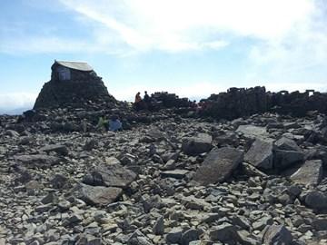 On the summit of  Ben Nevis