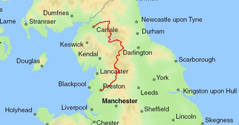 The North West Way route