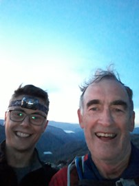 Summit of Scafell Pike with my team mate Tom