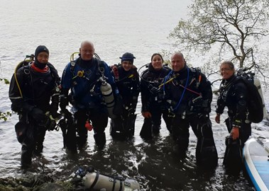 Dive team having complketed the dive.
