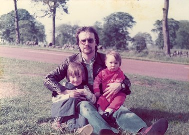 John with his two sons - Justin on the left and Chris on the right - who all feature on the track. Pic from around 1979/80