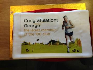 100 parkrun Celebration cake