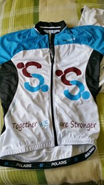 Cycling jersey for brain tumour support!