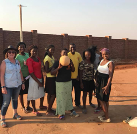 Grace's Sisters at Grace's Netball Court, Malawi