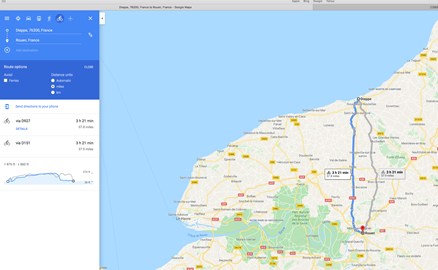 Day 2 - Part 1 - Dieppe to Rouen for Breakfast