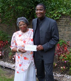 David Michael with Mrs Sybil Phoenix OBE