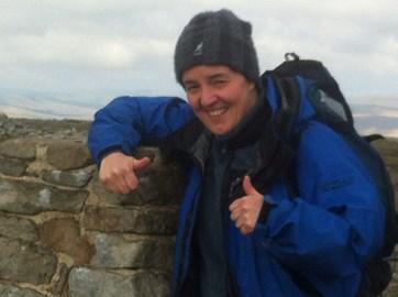 Top of Ingleborough -  the third peak! 23 miles amazing scenery and great challenge XX