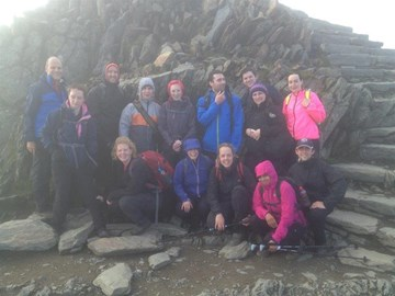 In the clouds on Snowdon - objective complete!