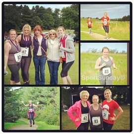 Jo and the gang at the Delamere 10K