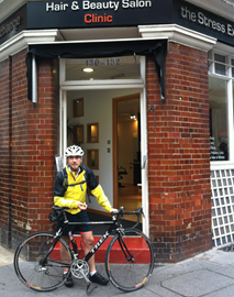 Cycling to and from work through London!