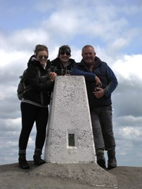 The Stamfords on practice walk in Edale