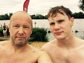 Final Training Swim with Matt at Sheppton Lake