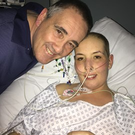 Steve and Hannah in ICU at Addenbrookes