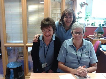 Volunteers at the Fountain Centre, Jane and Jan