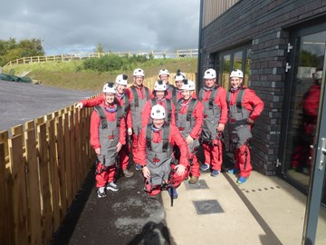 The Team before the Zip Wire