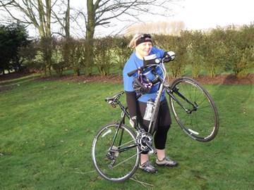 Jo with her bike